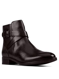 clarks-hamble-buckle-leather-ankle-boot-black