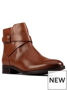 clarks-hamble-buckle-leather-ankle-boot-dark-tan