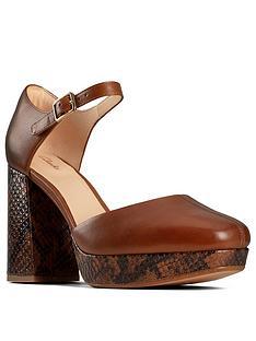 clarks-sheer100-strap-heeled-platform-shoe-dark-tan
