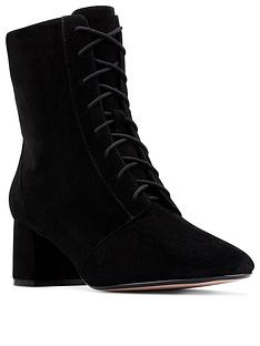 clarks-sheer55-lace-up-suede-ankle-boots-black