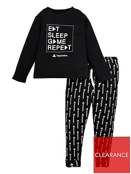 playstation-boysnbspeat-sleep-game-repeat-pjs-black