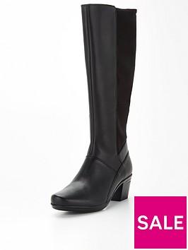 clarks-emslie-emma-leather-knee-boot-black
