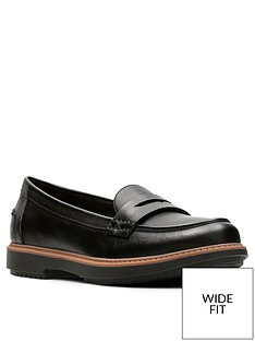 clarks-raisie-eletta-wide-fit-loafer-black