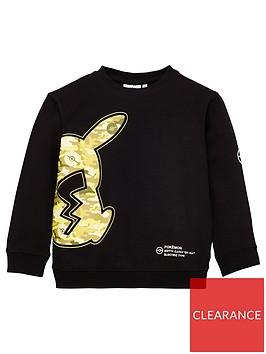 pokemon-boys-pokemon-co-ord-camo-pikachu-sweatshirt-black
