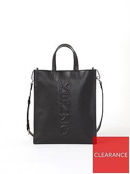 kenzo-vertical-logo-embossed-shopper-bag-black