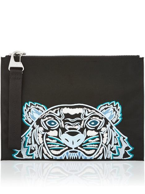 kenzo-canvas-tiger-large-pouch-bagnbsp--black