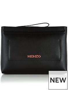 kenzo-logo-pouch-black