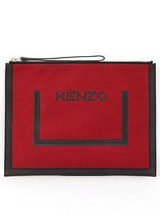 kenzo-largenbsplogo-pouch-red