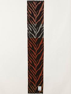 kenzo-tricolour-tiger-stripes-jacquard-scarf-multi