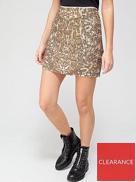 allsaints-brellie-embellished-mini-skirt-gold