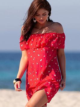 pour-moi-textured-print-bardot-beach-dress-multi