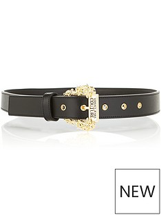 versace-jeans-couture-gold-buckle-belt-black
