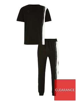 river-island-boys-maison-2-piecenbspt-shirt-and-jog-pants-setnbsp-nbspblack