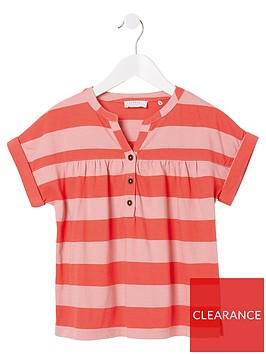 fatface-girls-stripe-popover-top-pink