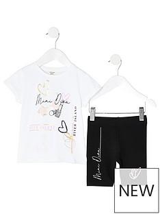 river-island-mini-girls-short-sleevenbspt-shirt-and-cycling-shorts-setnbsp--white