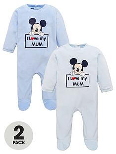 mickey-mouse-baby-boy-mickey-mouse-2-pack-i-love-mum-babygrow-blue