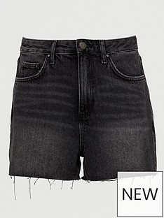 v-by-very-mom-denim-shorts-washed-black