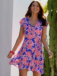 pour-moi-textured-frill-wrap-beach-dress-multi