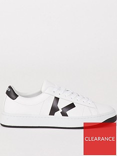 kenzo-k-logo-lace-up-sneakers-white