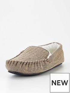 very-man-herringbone-moccasin-slippers-brown