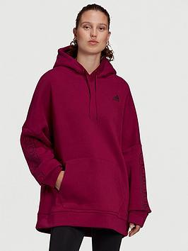 adidas-big-badge-of-sport-oversized-hoodie-berry