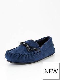 very-man-suede-look-moccasin-slipper-navy