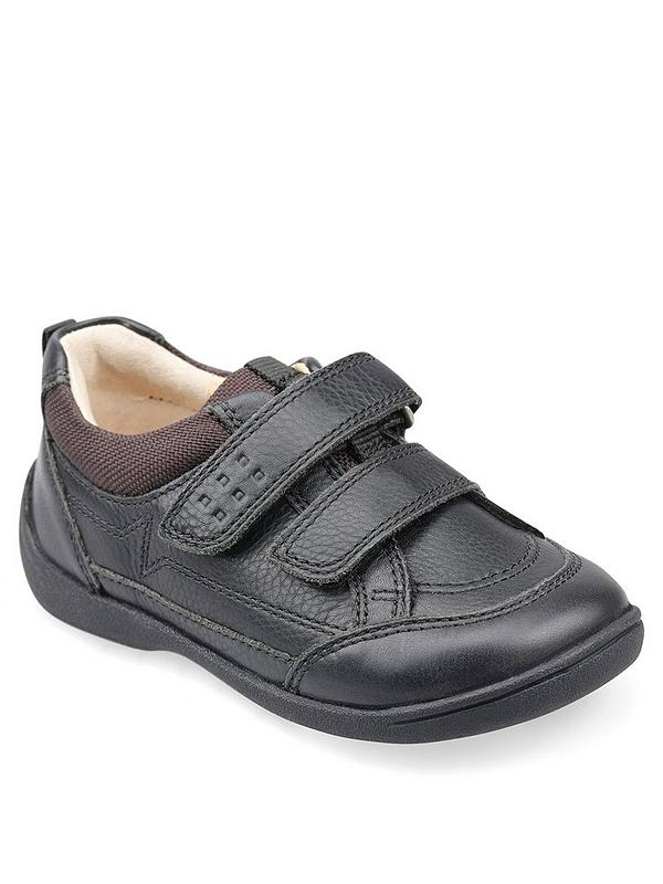 WILL BLACK LEATHER   UK 8 G STARTRITE  Junior Boys BLACK SCHOOL SHOES
