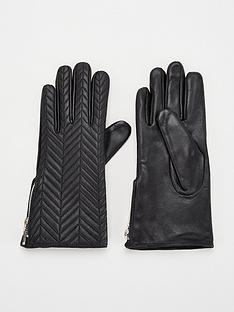 v-by-very-leather-quilted-zip-side-glove-black