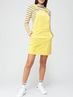 adidas-originals-comfy-cords-dungaree-dress-yellownbsp