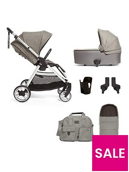 mamas-papas-flip-xt2-bundle-pushchair-carrycot-adaptor-cup-holder-amp-footmuff-grey-melange