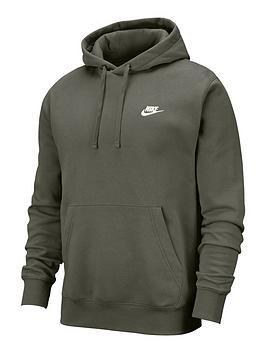 nike-plus-size-club-overhead-hoodie-khaki