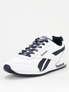reebok-royal-classic-jogger-2-junior-trainers-whitenavy