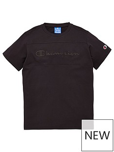 champion-crew-neck-faded-logo-t-shirt-black