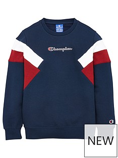 champion-crew-neck-colour-block-sweatshirt-navy