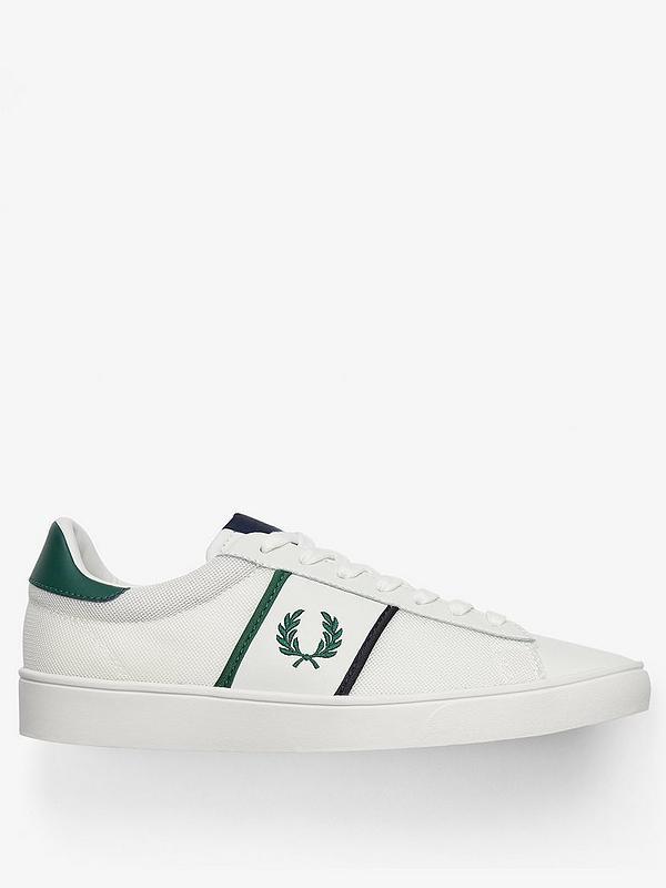 Porcelain White Green Men UK: 9 10 11 Tipping ® ⚫ Fred Perry Spencer Mesh