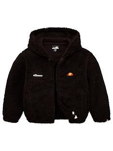 ellesse-younger-girls-angola-teddybear-jacket-black