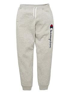 champion-rib-cuff-logo-pants-grey