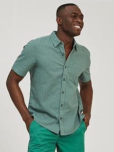 fatface-bugle-micro-check-short-sleeve-shirt-green