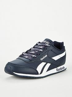 reebok-royal-classic-jogger-2-junior-trainers-navywhite