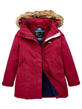 Trespass Girls Fame Longer Length Padded Jacket - Purple, Purple, Size 11-12 Years, Women