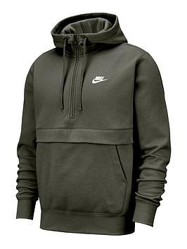 nike-club-12-zip-hoodie-khaki