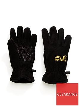 jack-wolfskin-kidsnbspfleece-glovenbsp--black