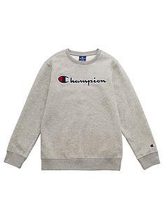 champion-crew-neck-logo-sweatshirt-grey
