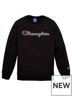 champion-crew-neck-logo-sweatshirt-black