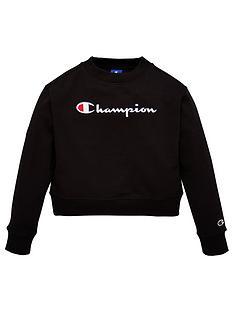 champion-girls-crew-neck-sweatshirt-black