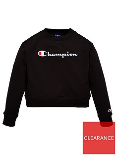 champion-girls-crew-neck-sweatshirt-black