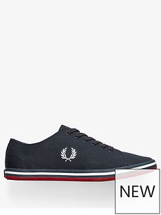 fred-perry-kingston-twill-trainer-navy