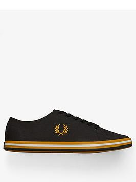 fred-perry-kingston-twill-trainer-black
