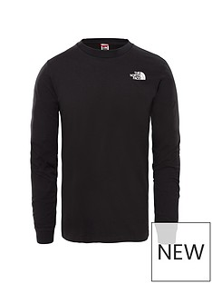 the-north-face-long-sleevenbspsimple-dome-t-shirt-black
