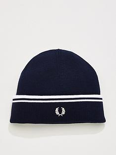 fred-perry-twin-tipped-merino-wool-beanie-navy